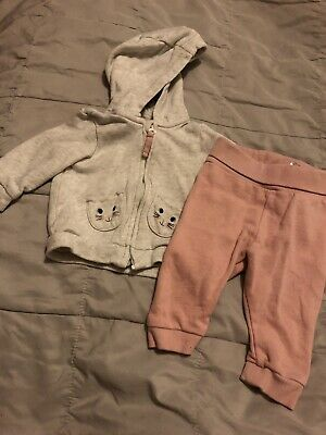 Baby Girls Two Piece Outfit, H&M, 2-4months, Used!