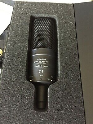 Audio Technica At4040 Cardioid Condensor Studio Microphone w/ Shockmount & Case