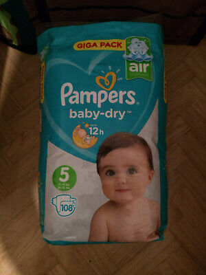 Giga Pack Pampers baby-dry 108 langes taille 5 (11-16kg)