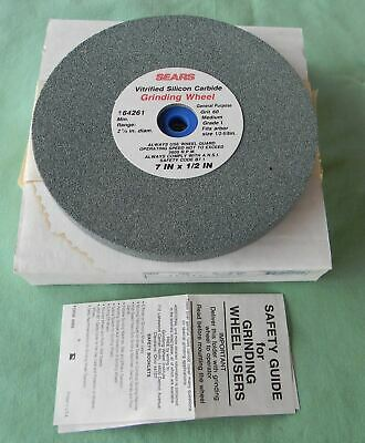 NOS SEARS CRAFTSMAN 7x1/2x1 SILICON CARBIDE MADE USA MED 60 GRIT GRINDING WHEEL