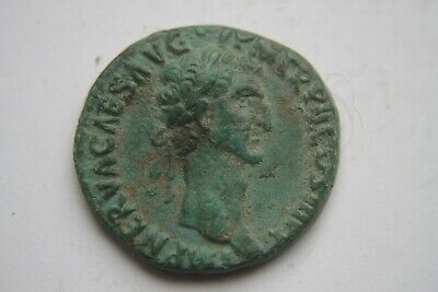 GOOD ANCIENT ROMAN NERVA AS COIN 2nd CENTURY AD