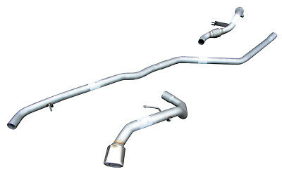 BMW 118D Silencer Delete Exhaust System + De Cat - Oval Tip (09/04-03/07)