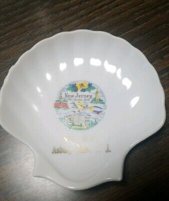 Asbury Park New Jersey Ashtray Clamshell Souvenir