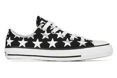 KIDS Boys Girls CONVERSE All Star BLACK WHITE STARS Low Trainers Shoes UK SIZE 1