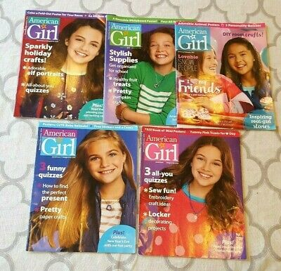 Lot Of 5 American Girl Magazines 2014, '15 & '17 ISSUES, Holiday & Everyday Fun
