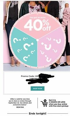 Kohl's 40% off code, in store or online *fast delivery* exp. 9/22