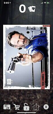 Topps Walking Dead Card Trader Red Candid Rick Insert DIGITAL Card TWDCT