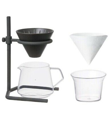 Kinto SCS-S04 Pour-over Height-adjustable Drip Filter Coffee Maker Set - 2 Cups-