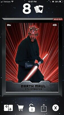 Star Wars Card Trader Jedi Sith Warriors - Darth Vader - 35cc Black Box Reprint