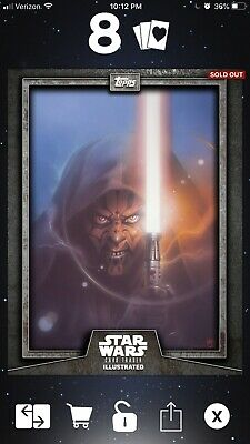 Topps Star Wars Trader Card Trader Illustrated CTI Darth Maul Gray 330 cc