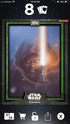 Topps Star Wars Trader Card Trader Illustrated CTI Darth Maul Green 114 cc