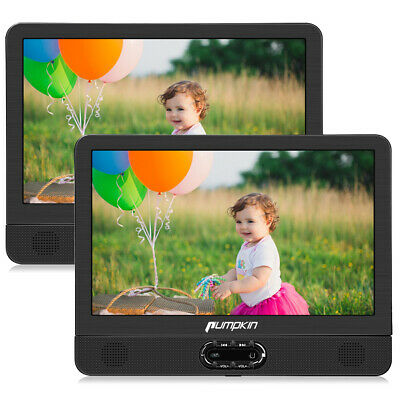 """12"""" HD Dual Screen Portable DVD Player for Car 1024*600 USB SD AV-IN/OUT Battery"""