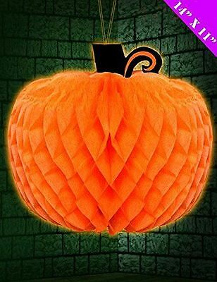 Halloween Pumpkin Wandbehang Wabe Puff Ball Dekorationen Party Innen Außen
