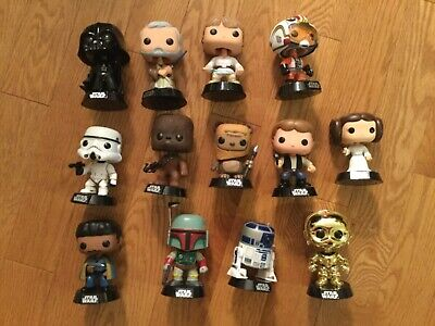 Funko Pop Large Star Wars Lot w/ Exclusives - Loose, Great Shape