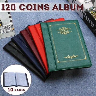 120 Coins Holders 5 Colors Collecting Collection Storage Money Penny Album