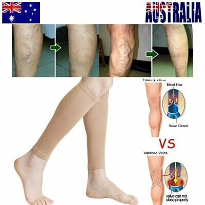 Pair Compression Socks Medical Travel Running Anti Fatigue Varicose Stockings zE