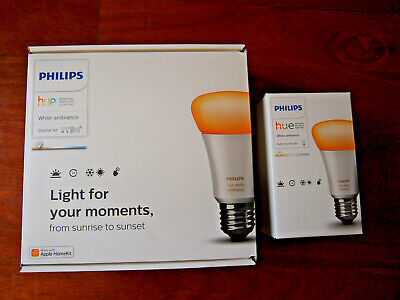Philips Hue E27 Starter Kit A60 White Ambiance + [3 Bulbs Included] $10 Off