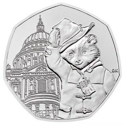 New 2019 UK Paddington Bear at St Pauls Cathedral 50p Coin New From  Sealed Bag