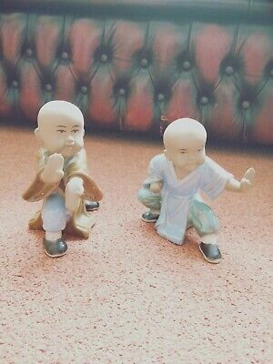 very interesting Chinese Shiwan gongfu figure set