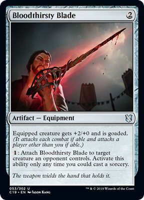 1x Bloodthirsty Blade ~ MTG Magic C19 Commander 2019 ~ NM ~