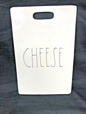 White Handled Farmhouse Stoneware Cheese Board by Magenta