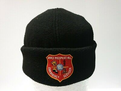 WMCF Phosphate Hill Emergency Services Beanie Black Hat Fire Rescue Vintage