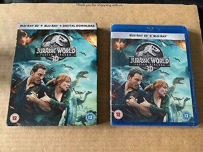 Jurassic World Fallen Kingdom 3D Blu Ray New and Sealed With Slipcase