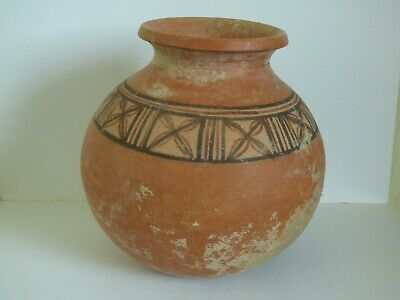 LARGE INDUS VALLEY POTTERY BOTTLE GEOMETRIC DECORATION c 2200 BC Good provenance