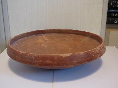 LARGE HOLY LAND EARLY BRONZE AGE TERRACOTTA PLATTER c. 3000 BC