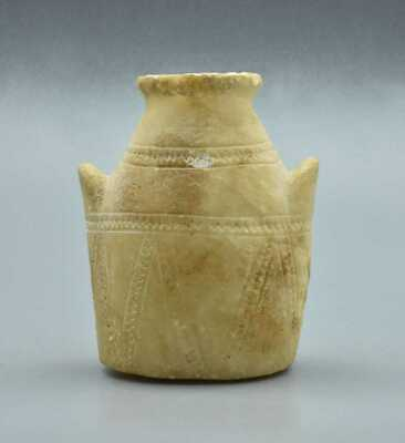 SCARCE HOLY LAND ALABASTER HANGING JAR MIDDLE BRONZE AGE c 1500 BC