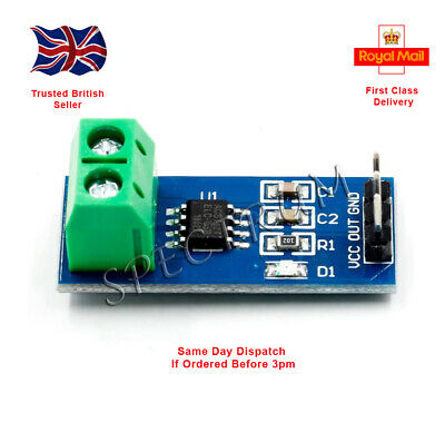 5A 20A 30A ACS712 Module Measuring Range Current Sensor Hall Board Arduino PI UK