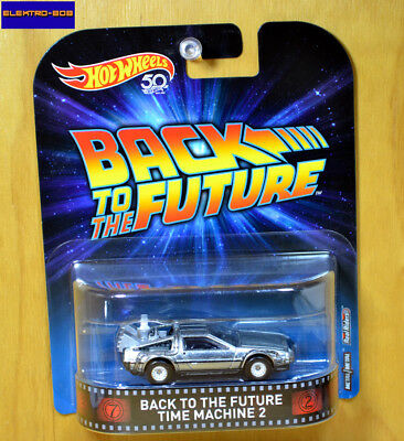 Hot Wheels Back to the Future Delorean DMC [Time Machine 2] BTTF-New/Sealed/XHTF