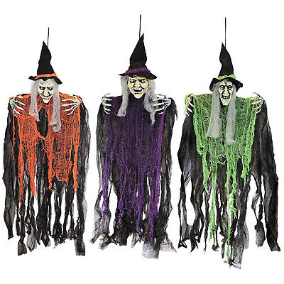 "3 PACK HANGING WITCHES 35.3"" Indoor Outdoor Halloween Party Prop Decoration"