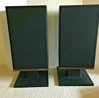 VTG 1970's Polk Audio Speakers Model 7C with Stands!! Rare Find!