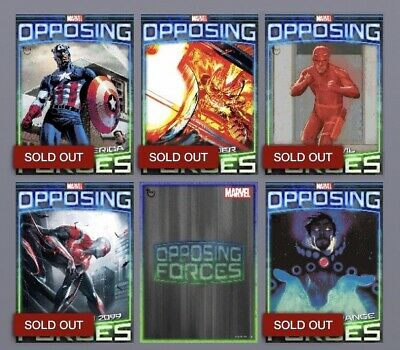 Topps Marvel Collect! DIGITAL Opposing Forces Complete W/ Award. 6 Card Set