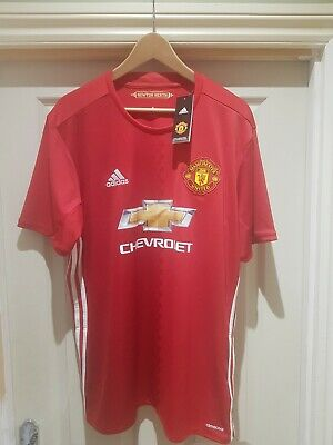 Man Utd Home Shirt 2016-17 Bnwt Size Xl