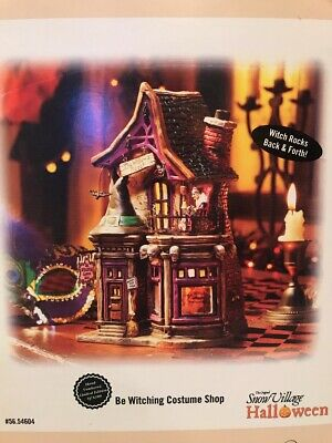 Dept 56 Halloween Snow Village Be Witching Costume Shop *NEW*
