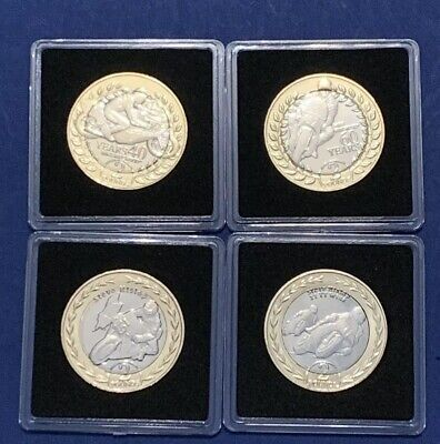 Set 2018 2019 Isle of Man IOM TT £2 Two Pounds Coin RARE UNC In Capsules ###2