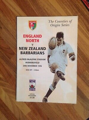 England North V New Zealand Barbarians Rugby Union Match Programme.