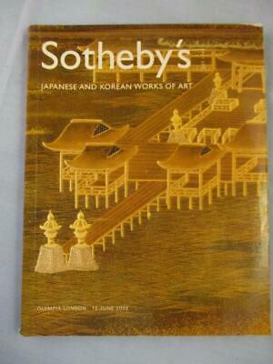 Sotheby's Japanese and Korean Works of Art Olympia London Auction Catalog 2003