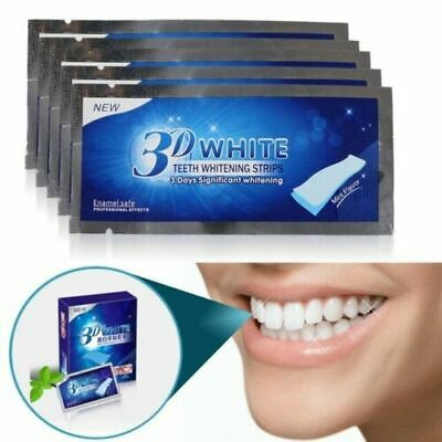 3D WhiteTeeth Whitening Strips Professional Effects Home Kit 14 Strips Bleach UK