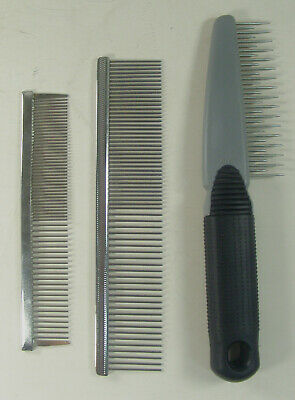 Pet Grooming Combs Rake Lot of 3