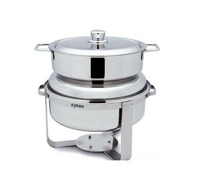 Stainless Steel Round Soup Station for Restaurant Use