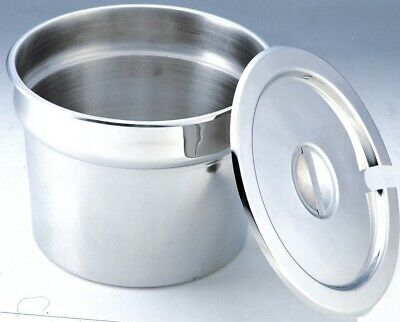Stainless Steel Pot with Slotted Lid- 5.5L Capacity