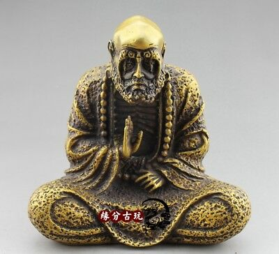 Chinese Wonderful old Bronze Buddha statue Bronze of Dharma Master