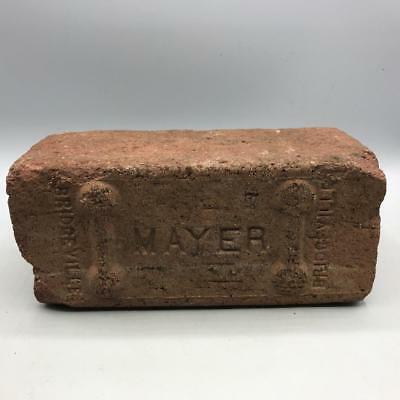 Vintage Mayer Bridgeville Red Brick Paving Garden Architecture Decor Walk Way