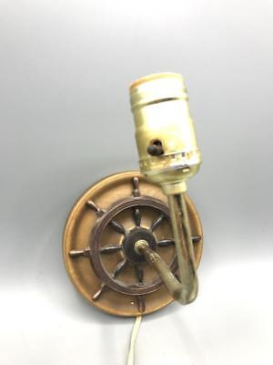 Vintage Boat Wheel Wall Sconce