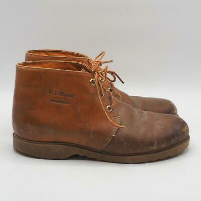 Vintage L.L. Bean Mens Chukka Leather Insulated Ankle Boots Brown Size 9 W