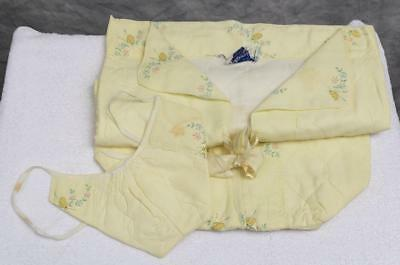 Vintage Quiltex Light Yellow Baby Sleep Sack & Hat jds