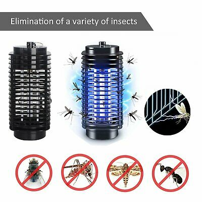 Electric Fly Bug Zapper Mosquito Insect Killer Blue UV Light Trap Catcher Lamp